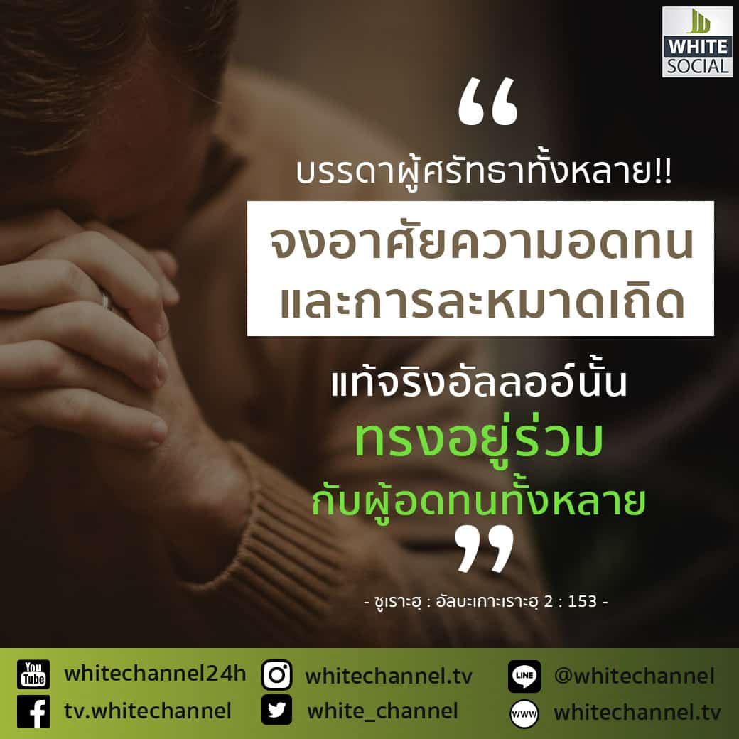 บรรดาผู้ศรัทธาทั้งหลาย จงอาศัยความอดทนและการละหมาดเถิด!