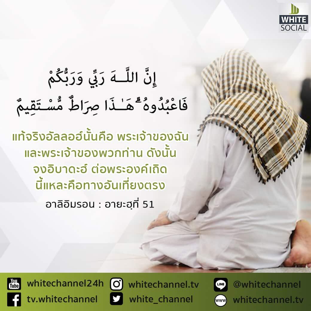 จงอิบาดะฮ์ ต่อพระองค์เถิด นี้แหละคือทางอันเที่ยงตรง