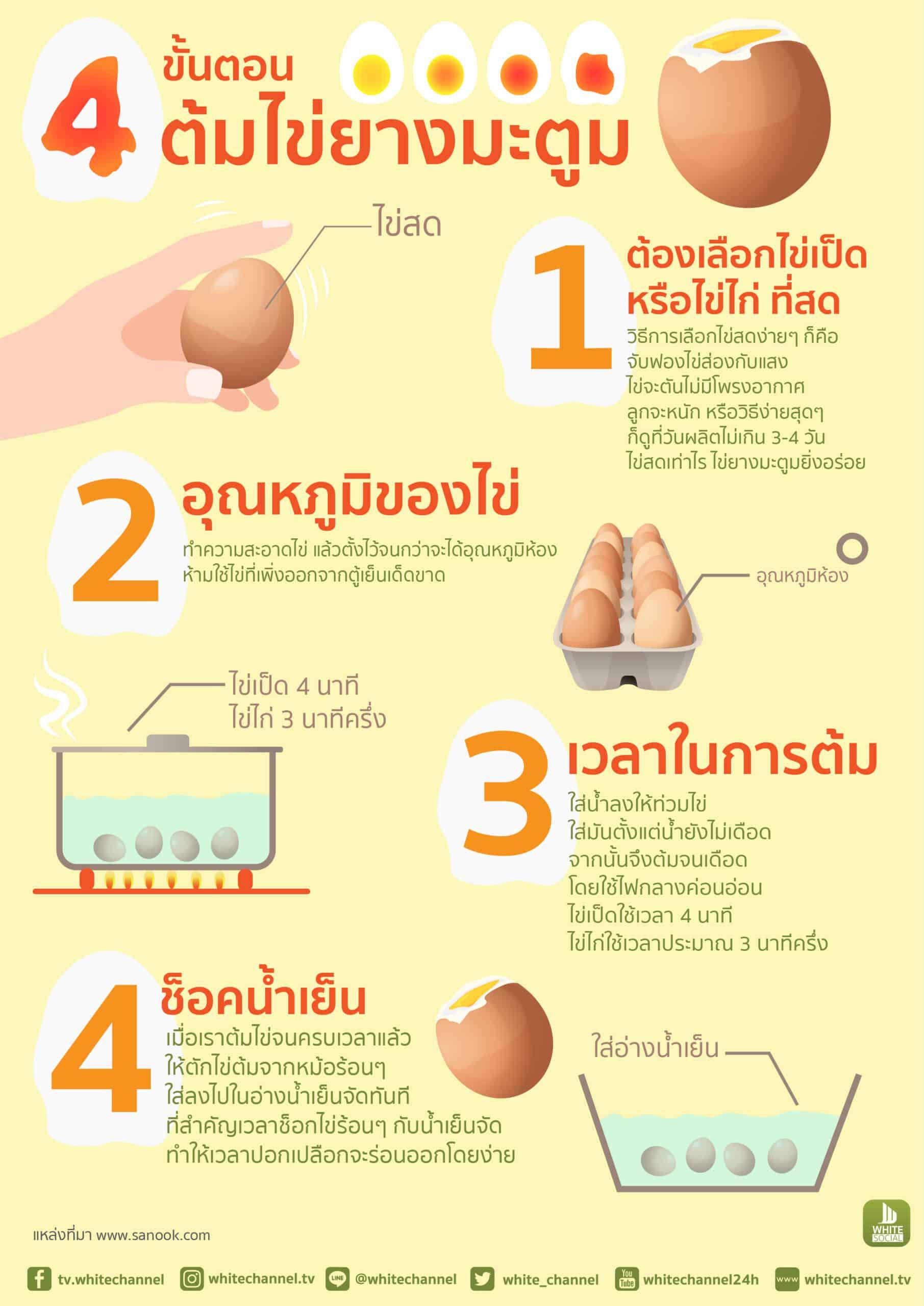 4 ขั้นตอนต้มไข่ยางมะตูม